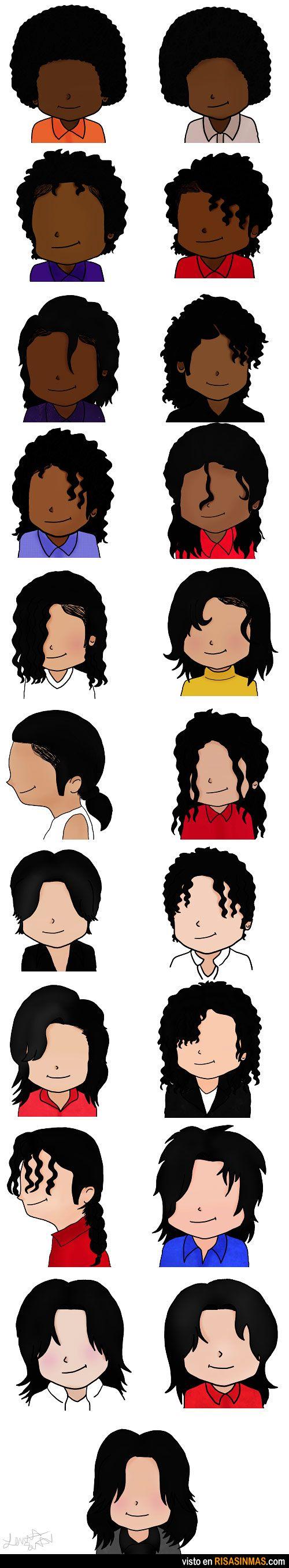 Evolución de Michael Jackson.