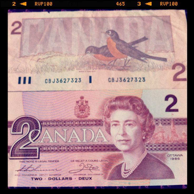 Canadian paper money since replaced by the twonie or toonie.