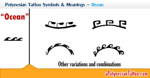 Polynesian Tattoo Symbols & Meanings – Ocean. Polynesian people regard the ocean as their final destination where they go when passed away. So sometimes the ocean is a symbol of death, or the world beyond. Besides, the ocean is also regarded as their source of food and can represent life, fertility and persistence. Ocean waves are used to symbolize the other world beyond too, which is a homeland where all ancestors live, where they'll eventually be.