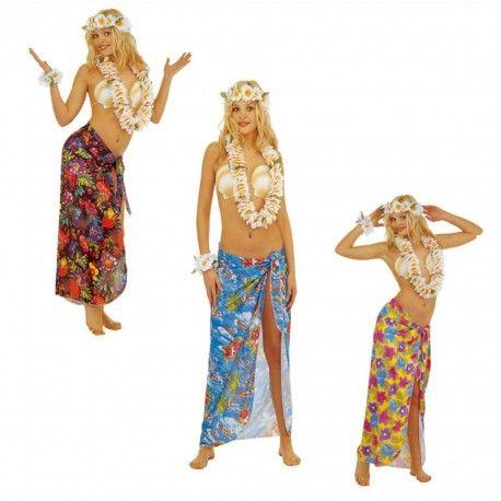 Pareo Hawaiano para mujer. Bonito pareo perfecto para disfrazarse de hawaiana, caribeña o turista. Disponible en tres colores. Talla única y envíos 24 horas http://mercadisfraces.es/de-hawaianos/pareo-hawaiano-para-mujer.html?search_query=hawaianos&results=63