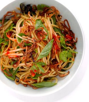 Here is an awesome vegetarian Green Papaya Salad!! | bonappetit.com.. Wonder if I could use veggetti on the papaya ?