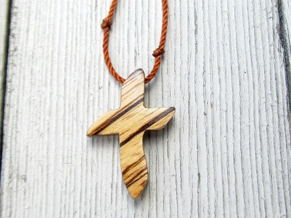 Wood Cross Necklace  Rustic African Zebrawood  by The Lotus Shop, $14.95Necklaces Rustic, Crosses Necklaces, Wood Crosses, Lotus Shops, Rustic African, African Zebrawood