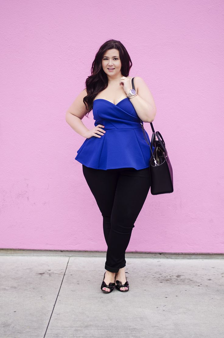 Winning Closet Coon. Plus Size Fashion Blogger Pink Wall Los Angeles City  Chic Eloquii Peplum Date Night Crystal Coons