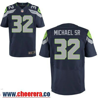 Men s Seattle Seahawks  32 Christine Michael SR Navy Blue Team Color  Stitched NFL Nike Elite Jersey  01d5be000
