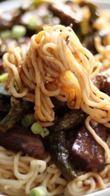 Steak and Asparagus Teriyaki Ramen | Recipe | Sesame ...