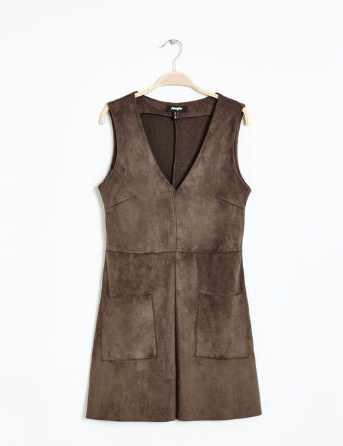 30€ robe suédine marron