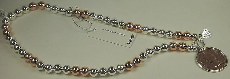 Jewellery-Necklace-Designer- Von Treskow- Large Ball Necklace Silver and Rose Gold with 2 tone Penny