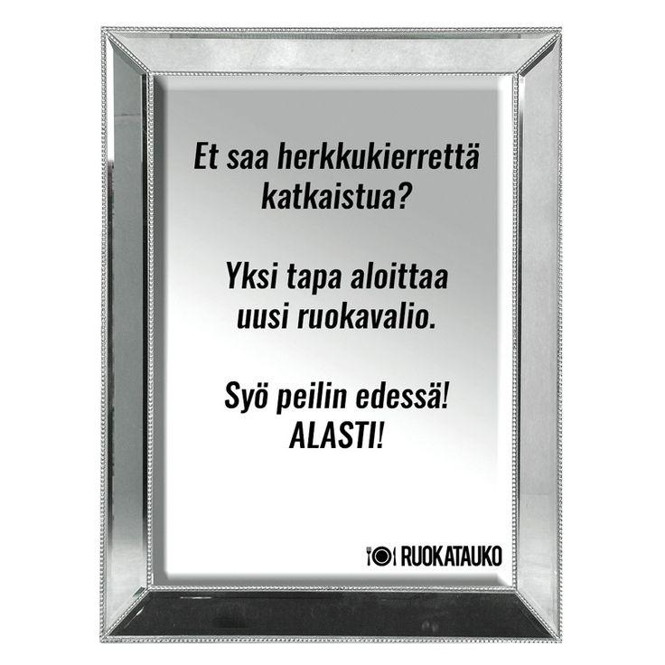 Miten laihtua? Helppoa.  http://www.ruokatauko.fi