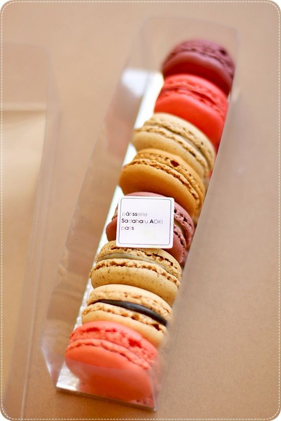 Macarons from Sadaharu AOKI, Paris