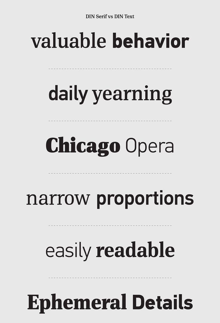 DIN Serif vs DIN Text