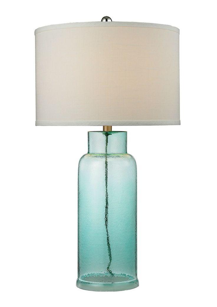 Aqua Glass Buoy Shaped Lamp