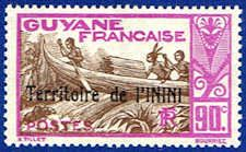 Inini 23 Stamp - Stamp of French Guinea Overprinted - SA IN 23-1 MNH