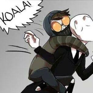 toby: koalaaa!! slender: waaaaa~