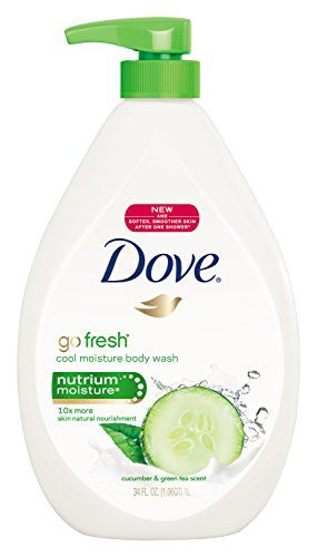 Experience our improved body wash formula, now even gentler, with the rich lather you love. Dove go fresh cool moisture body wash leaves your skin feeling cool and refreshingly hydrated. Experience an uplifting moment for your skin with the crisp, soothing scent of cucumber and green tea, and skin nourishment of Nutrium-Moisture. Our ultra-mild formula is even gentler and offers more skin natural nourishment than most body washes. Compared to skin before shower.