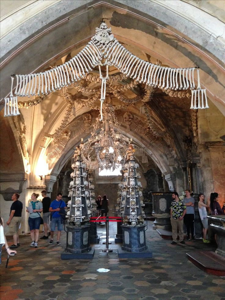 Bone Church (Sedlec Ossuary) in Kutna Hora in the Czech Republic