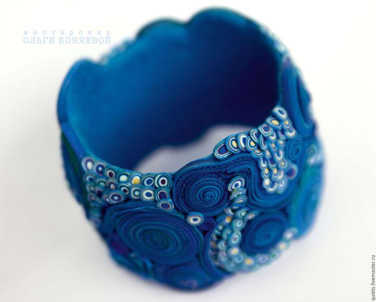 """Купить Браслет """"Нереида""""(морская нимфа) - синий браслет, браслет синий, морской стиль, морской браслет"""