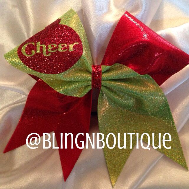 Holiday Cheer Christmas Cheer Bow by BlingNBoutique on Etsy https://www.etsy.com/listing/170836643/holiday-cheer-christmas-cheer-bow