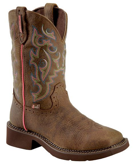 Justin Gypsy Waterproof Cowgirl Boots - Square Toe <3 these