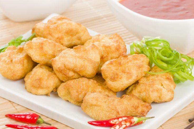 Bouchées de poulet croustillantes...Sauce miel et ail