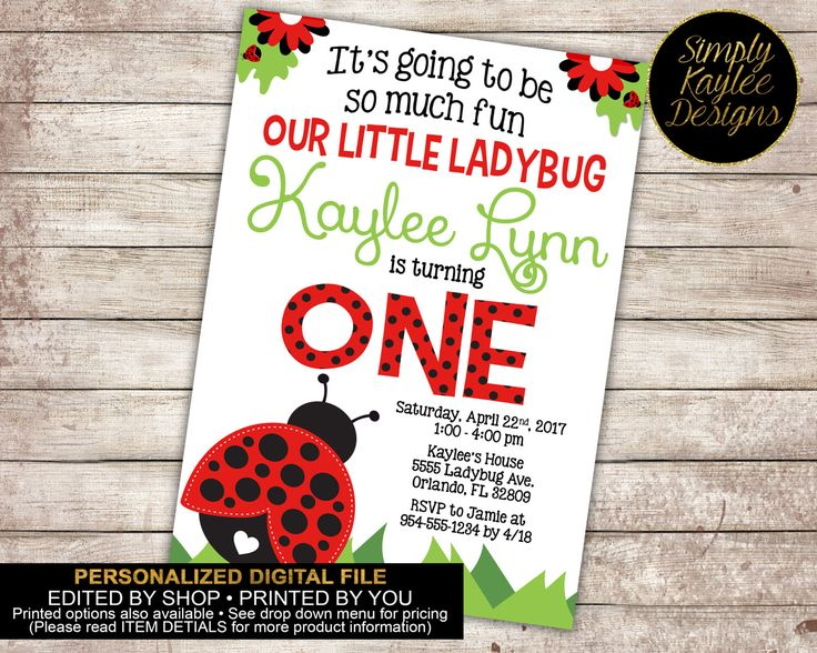 The 25 best Ladybug birthday invitations ideas on Pinterest