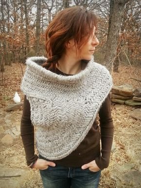 b56f8650e Katniss Hunting Cowl with Vest - PDF knitting pattern only -  woolfsclothing s Shop - Craftfoxes