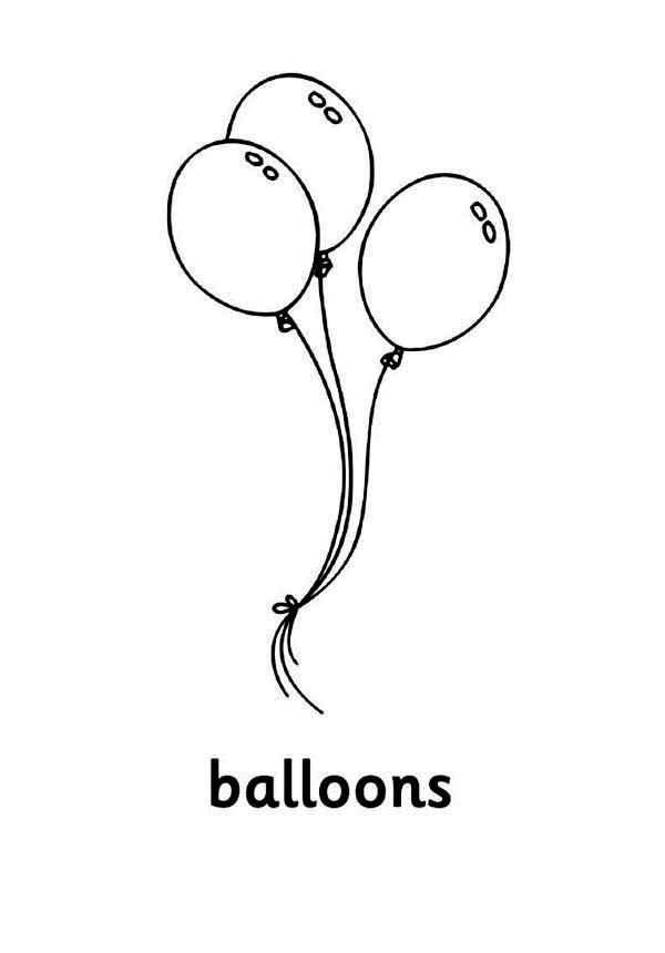Disegni Palloncini Da Colorare 10 Palloncini Disegni Disegno Per Bambini