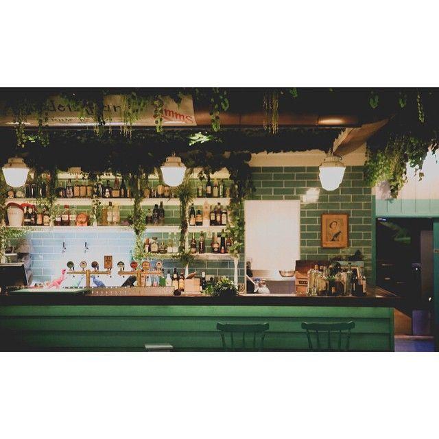 The Garden Bar at Woolly Mammoth - LED strip mania.