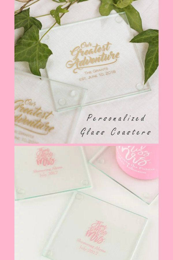 Personalized Glass Coasters Make Your Wedding An Affair To Remember With These Personalized We Wedding Coasters Favors Wedding Gift Favors Diy Wedding Favors