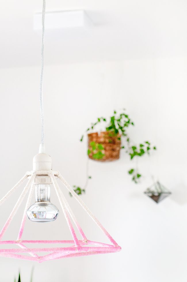 DIY Luminária geométrica ombré | A Parede Indecisa