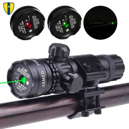 Green/Red Dot Laser for 20mm Rail & Barrel Mount Cap with Pressure Switch