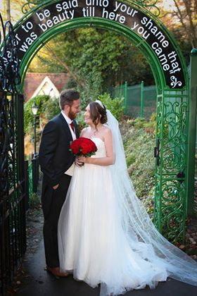 The beautiful newly married Charlotte Flynn and her husband Gary! X
