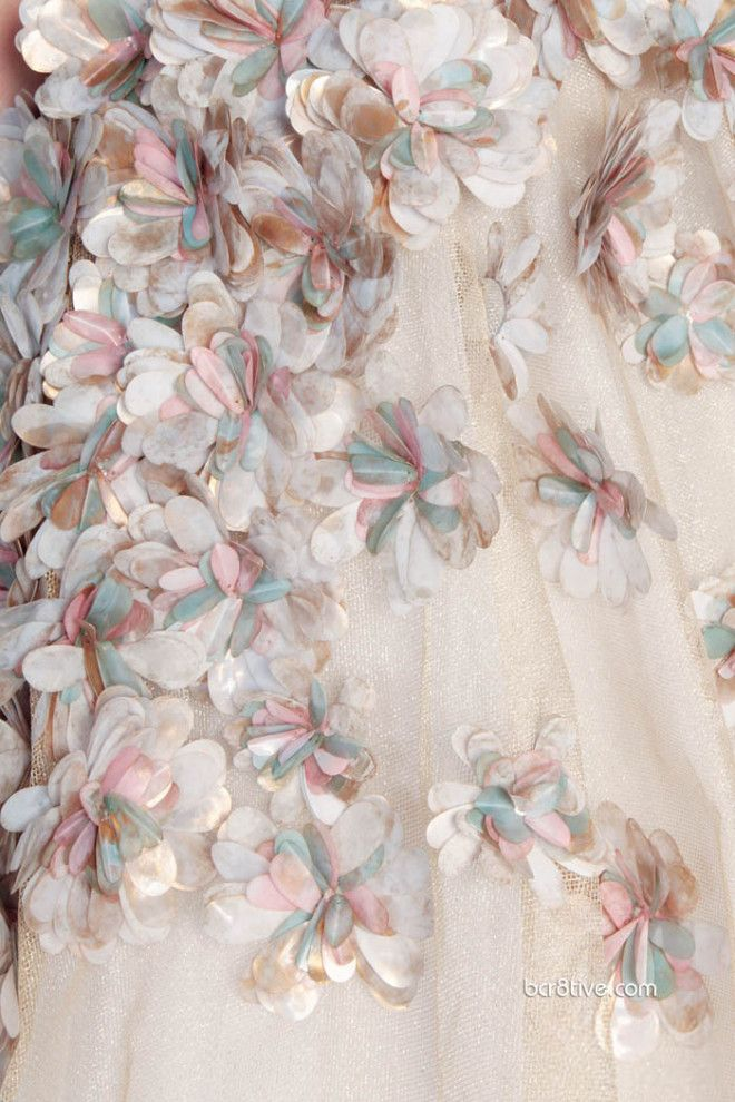 Rami Kadi Les Jardins Suspendus...Imagine these flowers in leather than sewn into a simple gown...Wow