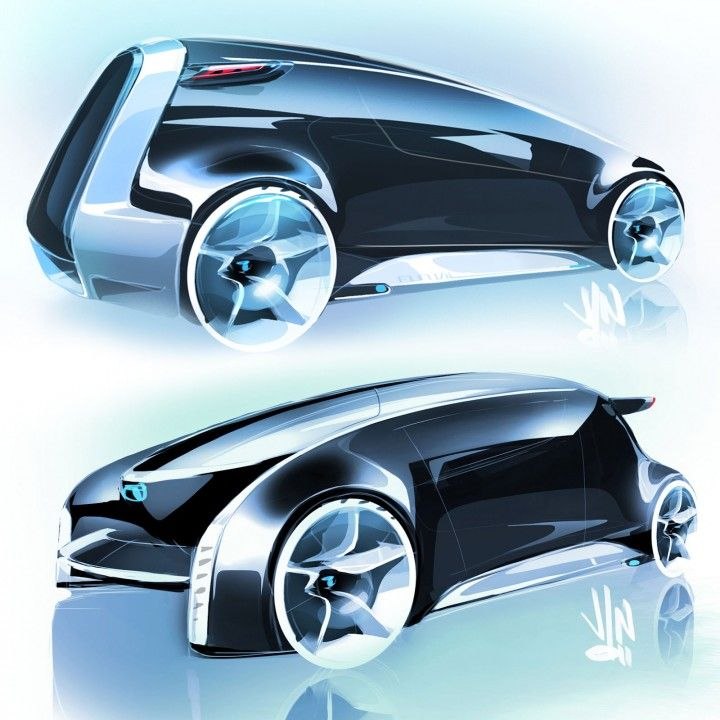 Toyota FUN-Vii Concept Design Sketches by Jin Won Kim, Exterior Chief designer at Calty Design Research