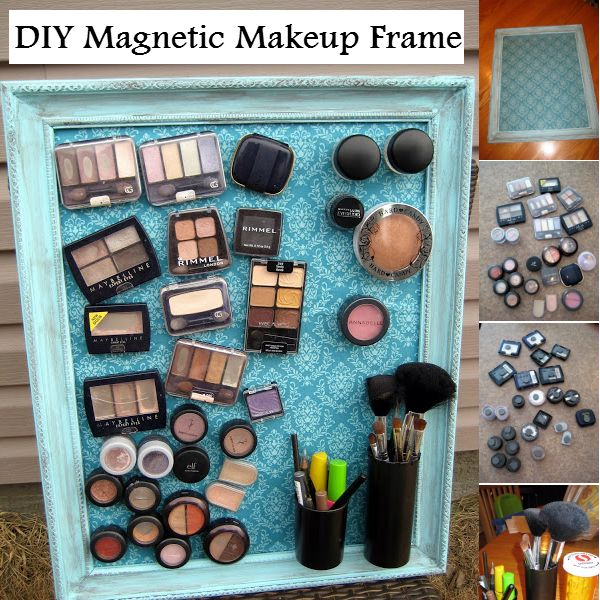 DIY Magnetic Makeup Frame Don't forget to Follow Us on Tumblr and keep up with the latest in Do It Yourself Ideas. Ever thought about organi...
