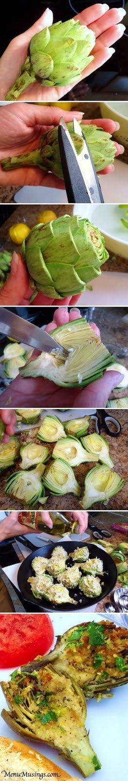 Stuffed Baby Artichokes | Recipe Sharing Community