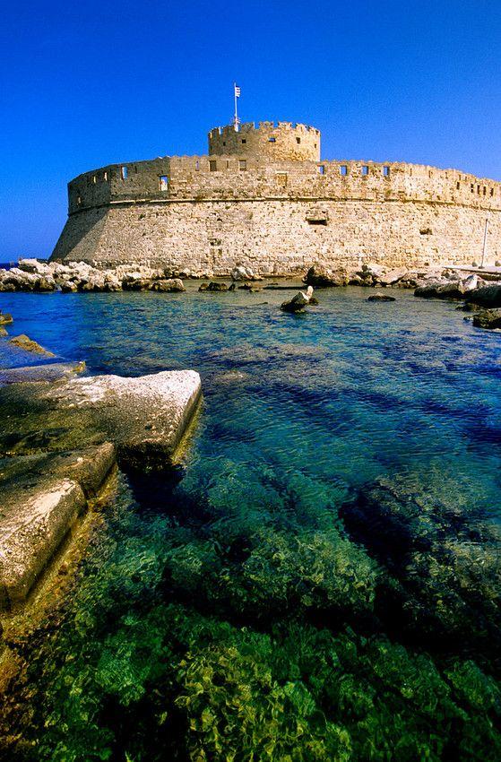 Mandraki Harbor, Rhodes Town, Rhodes, Dodecanese, Greece