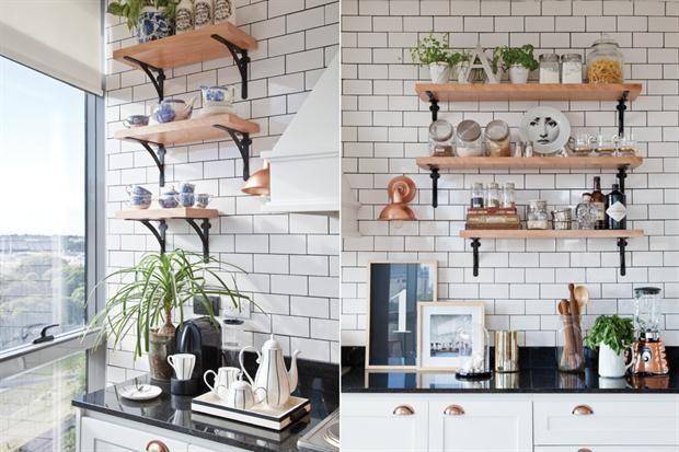 Cozinha parisiense com toque industrial