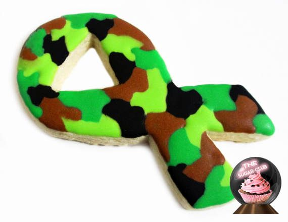 Army Party Military Party Favor Army Cookie Camouflage