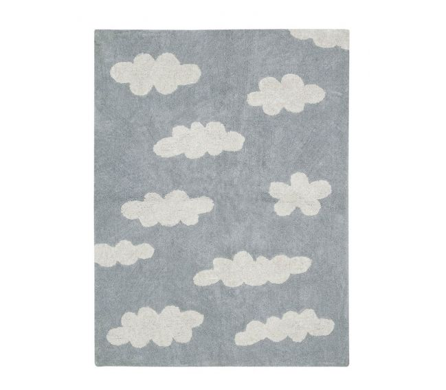 lorena canals clouds rug grey washable rugs for your nursery - Washable Rugs