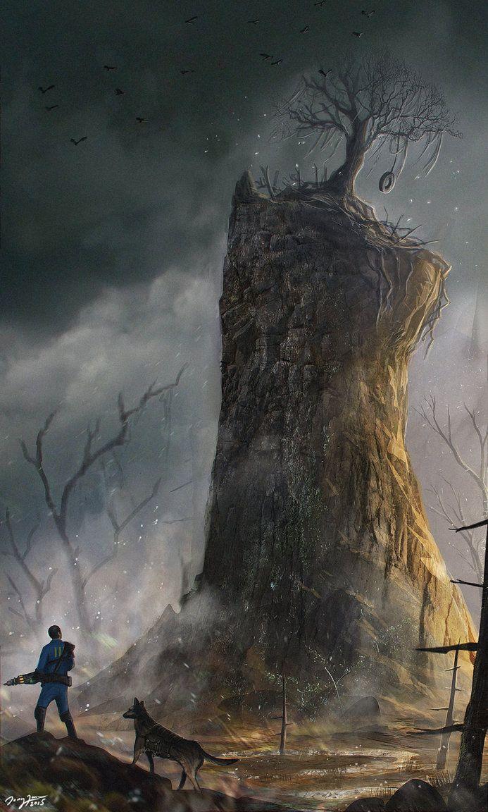 Fallout 4 Fan art - On The Road by ZhouJiaSheng