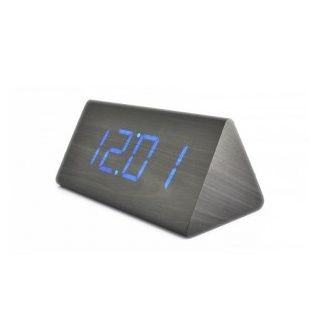 cool alarm clocks led wood desktop cool digital alarm clocks things we love