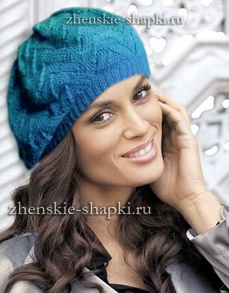 Модная женская шапка на весну, описание