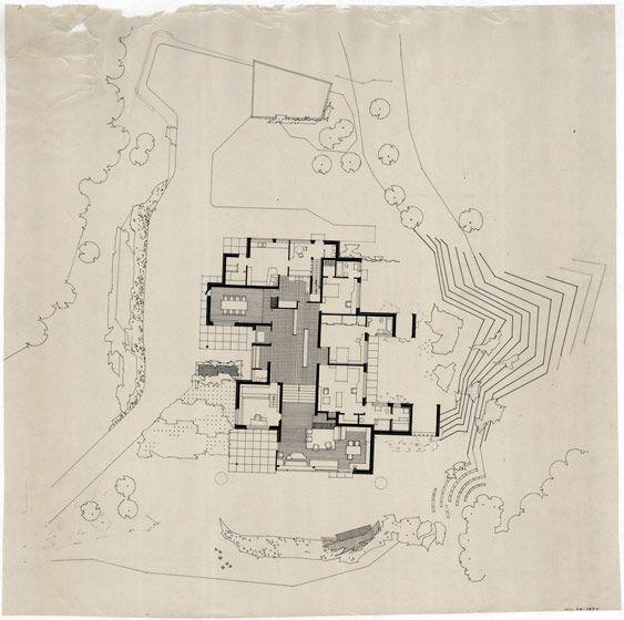 34 best images about alvar aalto drawings on pinterest for Plans de villa moderne