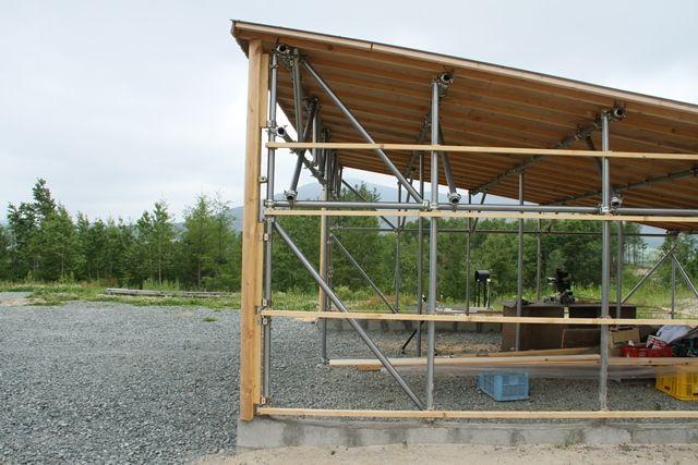 単管パイプ小屋 その4 小屋 小屋の計画 単管パイプ