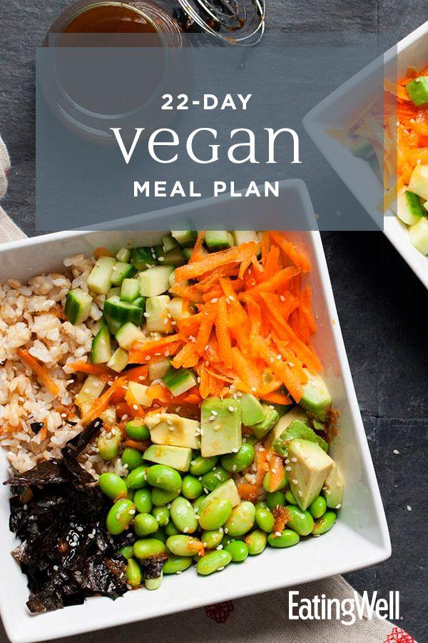 22 Day Vegan Meal Plan Vegan Meal Plans Vegan Recipes Whole Food Recipes