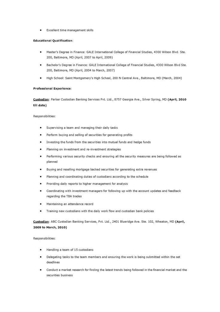 janitorial resume description ecordura com