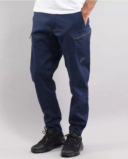 87d002cdac MENS NIKE SPORTSWEAR BONDED JOGGER PANTS BLUE BLACK -SZ 36 CARGO ...
