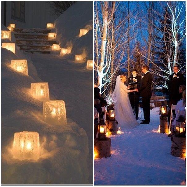 deco mariage hiver