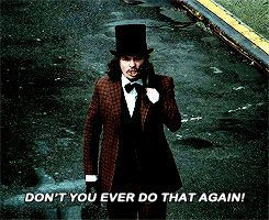 """""""Don't you ever do that again!"""" - James Gordon trolling the Mad Hatter #Gotham ((Bahaha!))"""