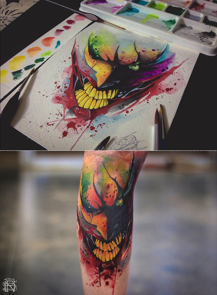 The Joker Watercolor Tattoo on Behance